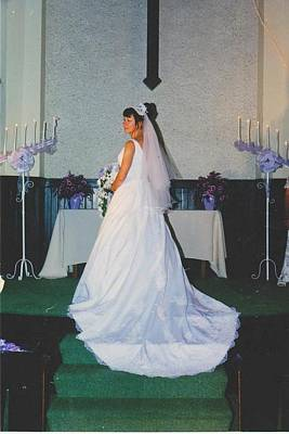 Photograph - Bride On Altar After Signing Vows by Mia Alexander