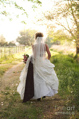 Photograph - Bride On Country Road by Cindy Singleton