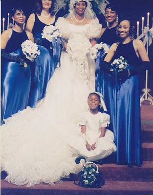 Photograph - Bride With All Female Attendants by Mia Alexander