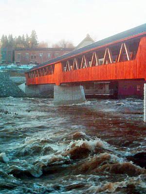 Photograph - Bridge Across The Ammonoosuc River by Marie Jamieson