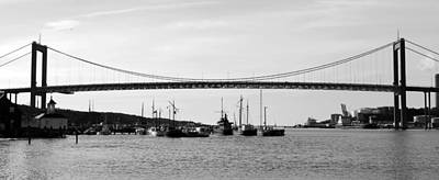 Bridge And Boats Art Print by Smallfort Photography Collection