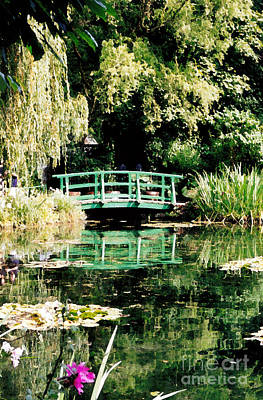 Photograph - Bridge And Lily Pond At Giverny by Patricia Januszkiewicz
