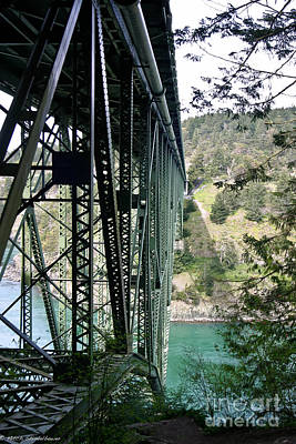 Whidbey Island Wa Photograph - Bridge At Deception Pass by Mitch Shindelbower