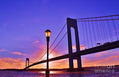 Bridge At Sunset 2 Art Print by Artie Wallace