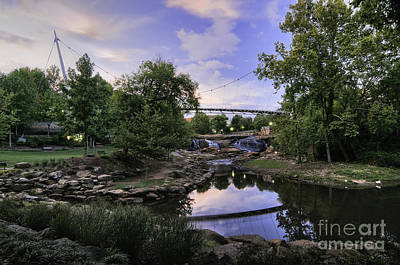 Photograph - Bridge At Sunset by David Waldrop