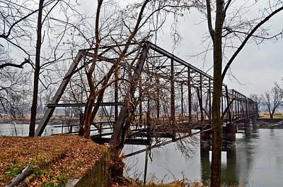 Bridge At Winter Art Print by Brenda Becker