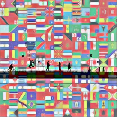 Understanding Painting - Bridge Between The Nations by Steve K