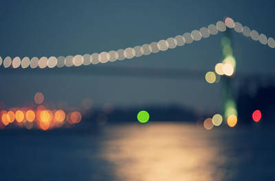 Bridge Bokeh! Art Print by Arshia Mandegarian