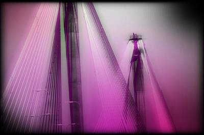 Bridge Cables One Art Print by Marty Koch