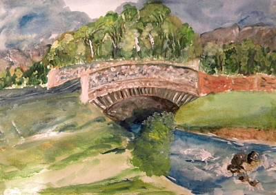 Pictori Romani Contemporani Painting - Bridge by Carmen Kolcsar