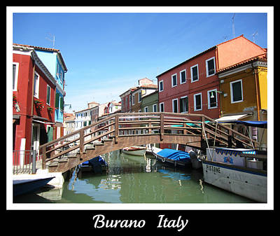 Photograph - Bridge Crossing II   Burano  Italy by John Shiron