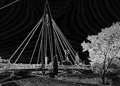 Bridge Electrified Art Print by David Alvarez