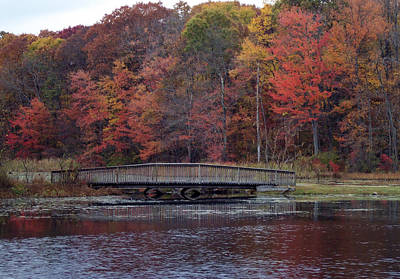 Photograph - Bridge In Autumn by Richard Bryce and Family