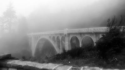 Print featuring the photograph Bridge In Fog by Katie Wing Vigil
