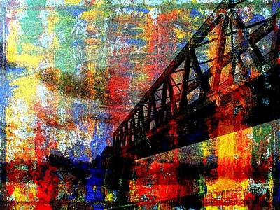 Wall Art - Painting - Bridge by Lee Eggstein