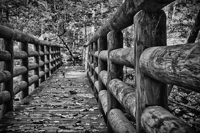 Photograph - Bridge Near Cascade Falls by James Woody