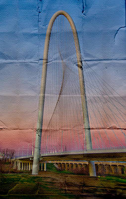 Digital Art - Bridge On Paper by David Clanton