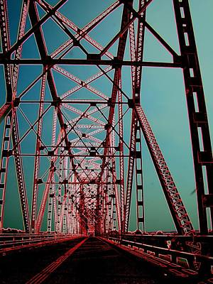 Photograph - Bridge On The Mississippi by J R Seymour