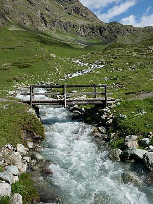 Graubunden Photograph - Bridge Over A Mountain Creek by Buena Vista Images