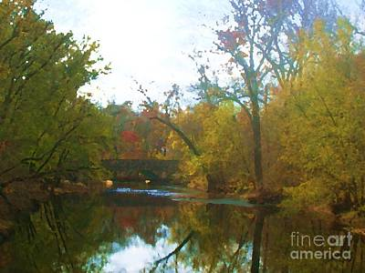 Digital Art - Bridge Over East Branch Creek by Denise Dempsey Kane
