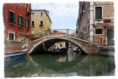 Photograph - Bridge Over Gondola by Judy Deist