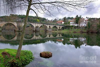 Bridge Over Lima River Art Print
