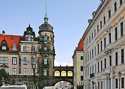 August Photograph - Bridge Over Taschenberg Street Dresden by Christine Till