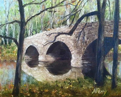 Painting - Bridge Over The Perkiomen by Margie Perry