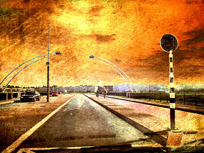 Bridge Over Troubled Water  Art Print by Yvon van der Wijk