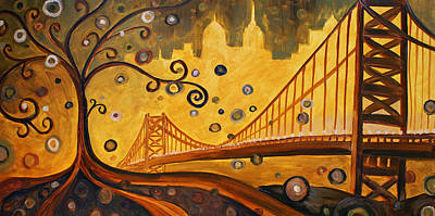 Bridge Art Print by Sara Coolidge