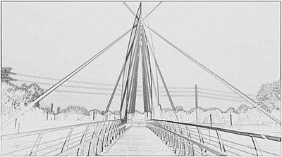 Bridge Sketch Art Print by David Alvarez