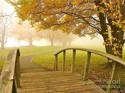 Photograph - Bridge To Autumn by Parrish Todd