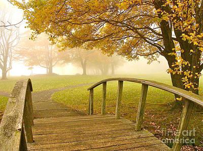 Photograph - Bridge To Autumn by Parrish Todd