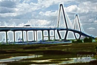 Bridge To Charleston Art Print by Darleen Stry