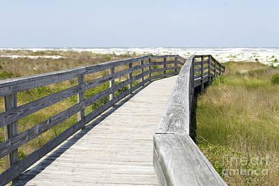 Florida Bridge Digital Art - Bridge To The Beach by Glennis Siverson