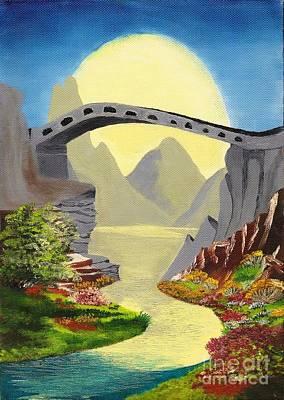 Bridge To The Moon Art Print
