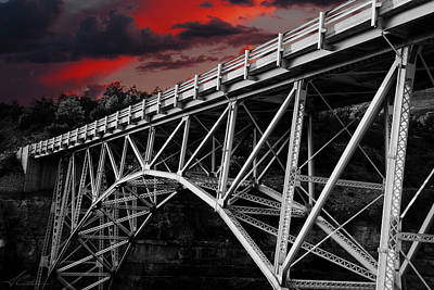 Photograph - Bridge Under Blood Red Skies by Anthony Citro
