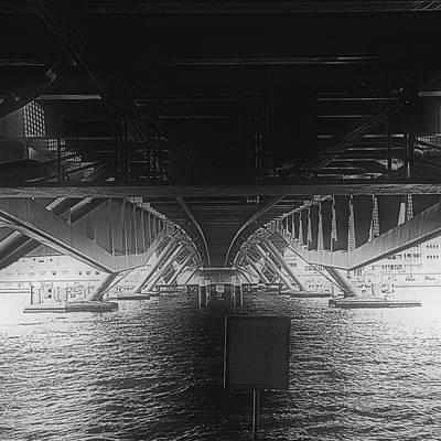 Steel Photograph - #bridge #water #bw #amsterdam by Robbert Ter Weijden