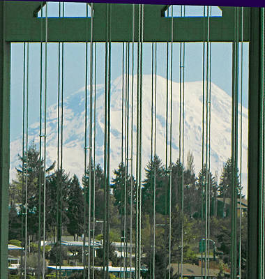 Photograph - Bridged Rainier by Tikvah's Hope