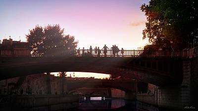 Bridges In Evening Paris Original