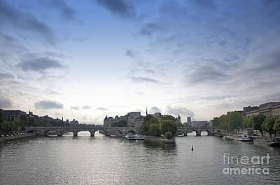 Ile De La Cite Photograph - Bridges On River Seine. Paris. France by Bernard Jaubert