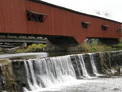 Bridgeton Covered Bridge Photograph - Bridgeton Covered Bridge by Tom Branson
