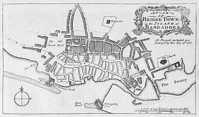 Bridgetown Photograph - Bridgetown, Barbados, After 1766 Fire by Middle Temple Library