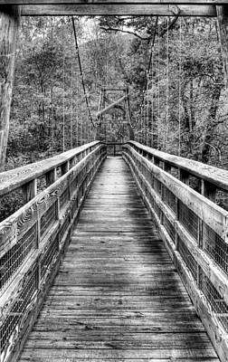 Photograph - Bridging The Seasons Bw by JC Findley