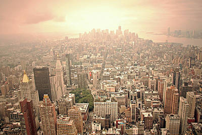 Bright Financial District In Nyc Art Print by Daniela Duncan