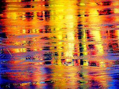 Photograph - Bright Icy Reflections by Beth Akerman