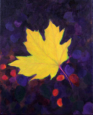 Bright Leaf Art Print by Janet Greer Sammons