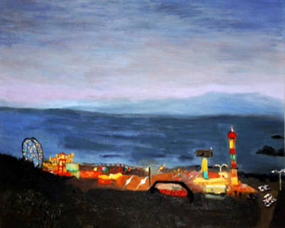 Painting - Bright Lights Pacific Ocean by Brent  Harris