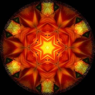 Fractal Wall Art - Photograph - #bright #orange And #yellow #fractal by Pixie Copley