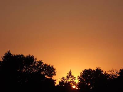 Bright Orange Sky Original by Brian  Maloney